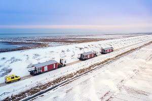 Imagefilm Schwertransport Mobile Home Harlesiel Friesland Drohne Tobias Mittmann 2B