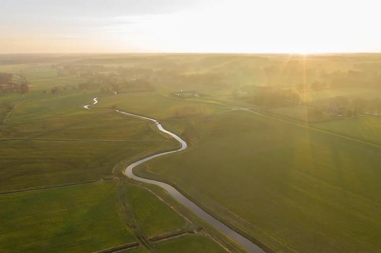 Drohnenfoto Luftaufnahme Landschaft Delmenhorst