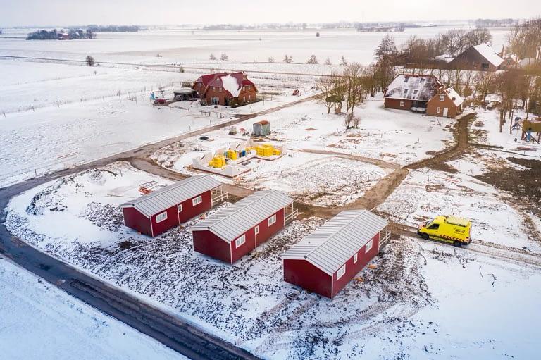 Ferienhaus Mobilehome Schwertransport Imagefilm Drohne 4
