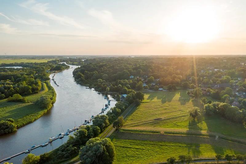 Drohnenfoto Luftaufnahme Bremen Lesum