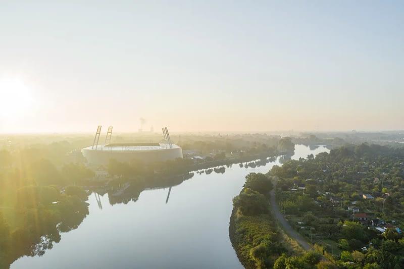 drohnenfotos luftaufnahme Weserstadion Bremen